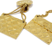 CHANEL Bag Shaking Earrings Clip-On Gold 25