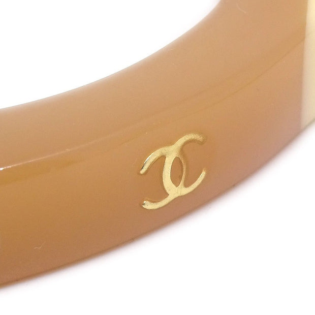 CHANEL Bangle Plastic Beige Ivory 01A