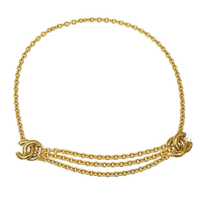 CHANEL CC Quilted Gold Chain Belt 6051