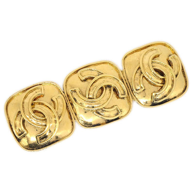 CHANEL Triple CC Brooch Pin Gold 94P