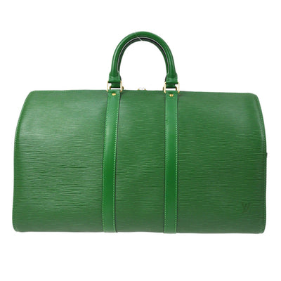 LOUIS VUITTON Duffle KEEPALL 45 TRAVEL HAND BAG GREEN EPI M42974