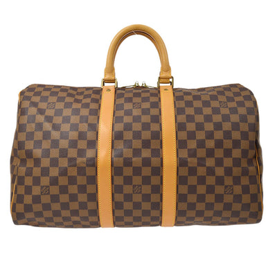 LOUIS VUITTON Duffle KEEPALL 45 TRAVEL HAND BAG DAMIER 100TH ANNIVERSARY