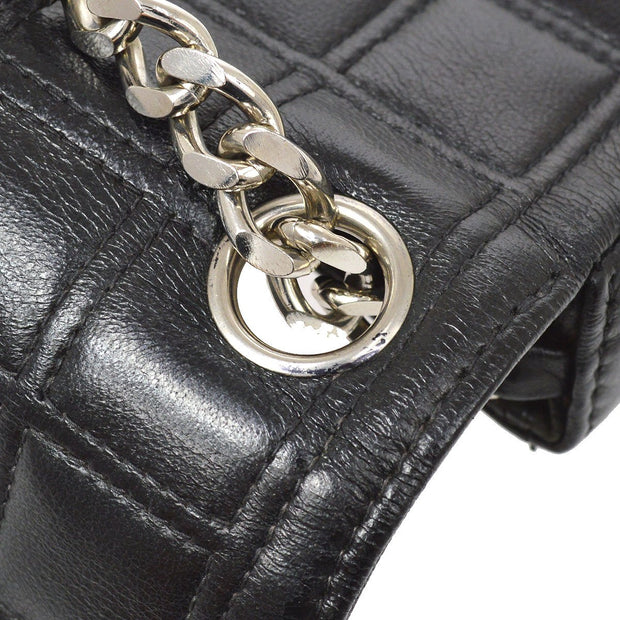 CHANEL 2.55 Choco Bar Rhinestone Chain Shoulder Bag Black