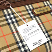 BURBERRY'S House Check Clutch Hand Bag Beige