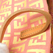 FENDI Zucchino Shoulder Tote Bag Pink