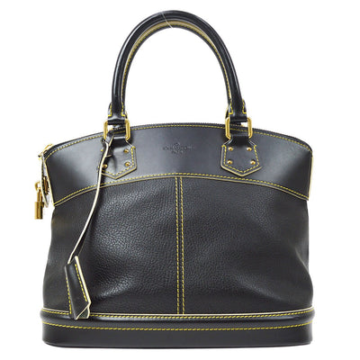 LOUIS VUITTON LOCKIT PM HAND BAG BLACK SUHALI M91888