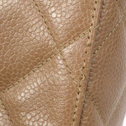 CHANEL Shoulder Bag Brown Caviar Skin