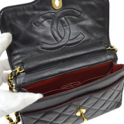 CHANEL Paris Limited Chain Shoulder Bag Black