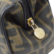 FENDI Zucca Pattern 2way Hand Shoulder Bag Brown