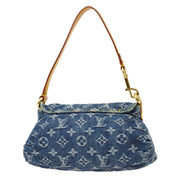 LOUIS VUITTON MINI PLEATY HAND BAG INDIGO MONOGRAM DENIM M95050
