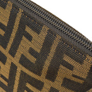FENDI Zucca Pattern Cosmetic Pouch Bag Brown