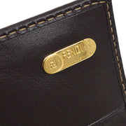 FENDI Zucca Pattern Long Wallet Brown