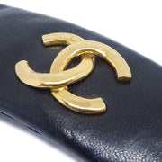 CHANEL Hair Barrette Black 42