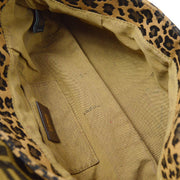 FENDI Zucca Leopard 2way Hand Shoulder Bag Brown