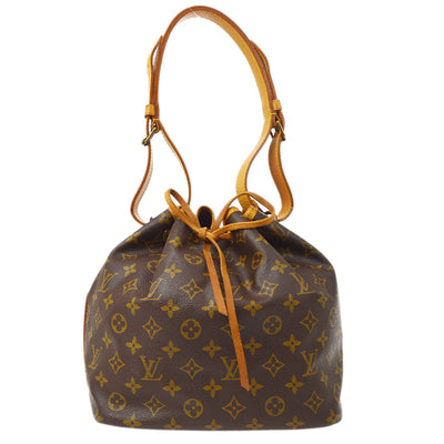 LOUIS VUITTON BUCKET PETIT NOE DRAWSTRING SHOULDER BAG MONOGRAM M42226
