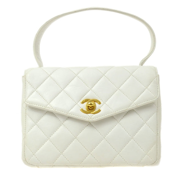 CHANEL Hand Bag White