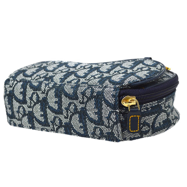 Christian Dior Trotter Saddle Mini Cosmetic Pouch Bag Navy
