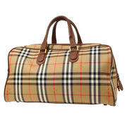 BURBERRY'S House Check Boston Hand Bag Beige