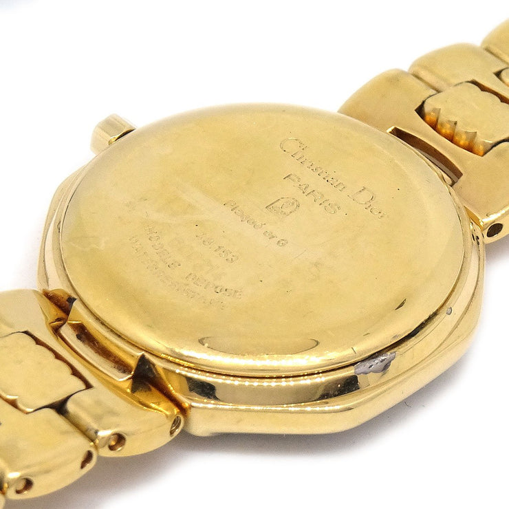 Christian Dior Depose 48.153 Ladies Quartz Wristwatch Watch Gold plated