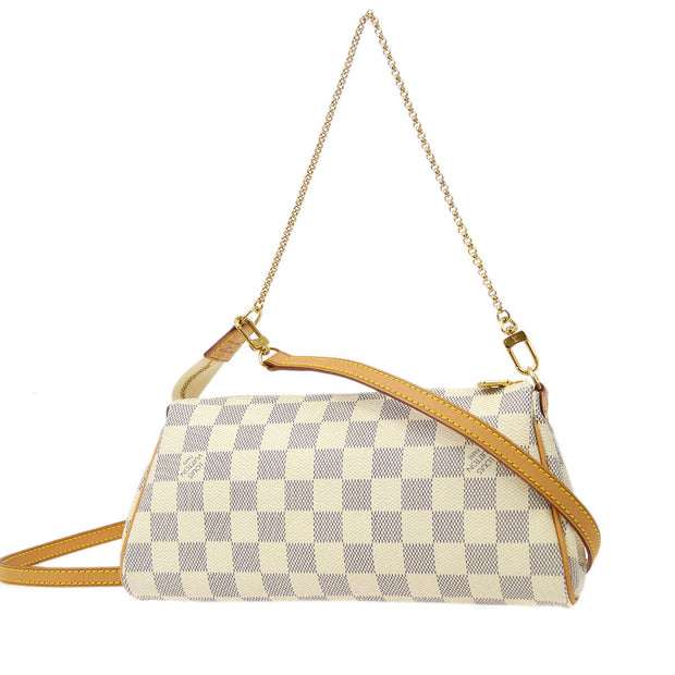 LOUIS VUITTON EVA 2WAY HAND SHOULDER BAG DAMIER AZUR N55214