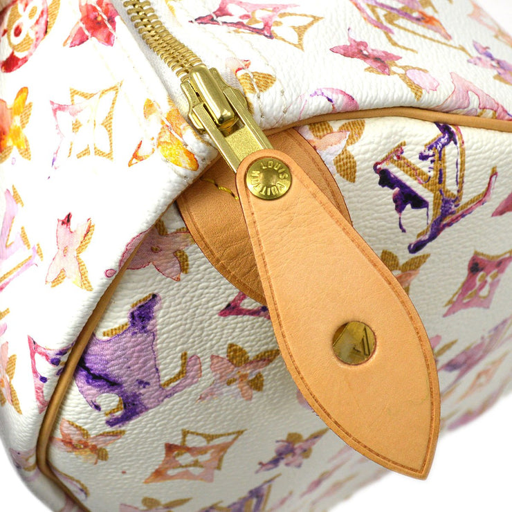 LOUIS VUITTON SPEEDY 30 HAND BAG BRON MONOGRAM WATERCOLOR M95751