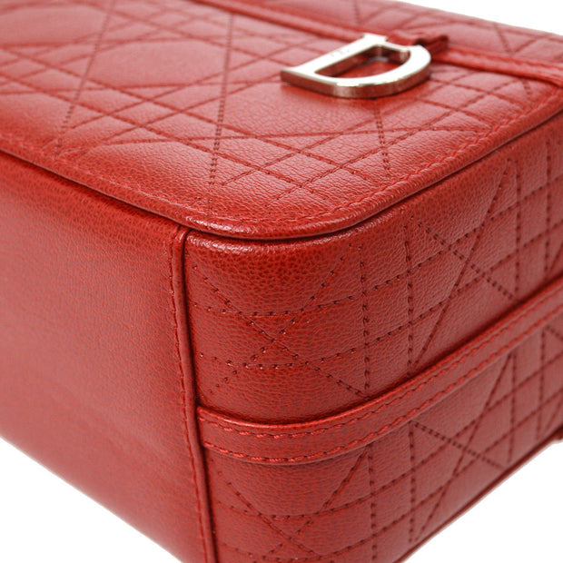 Christian Dior Lady Dior Hand Bag Red