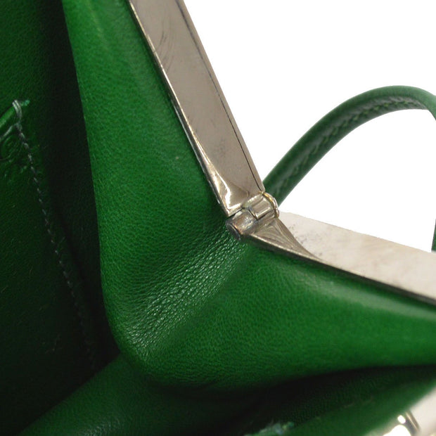 HERMES Sac A Malice Shoulder Bag Green