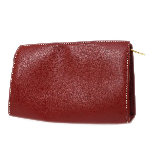 Yves Saint Laurent Clutch Hand Bag Pouch Red
