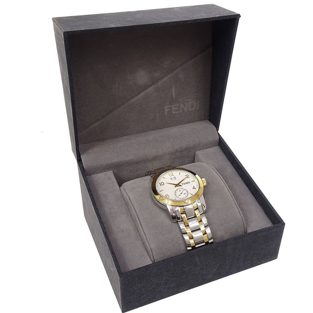 FENDI 2100G Mens Quartz Wristwatch Watch Stainless steel