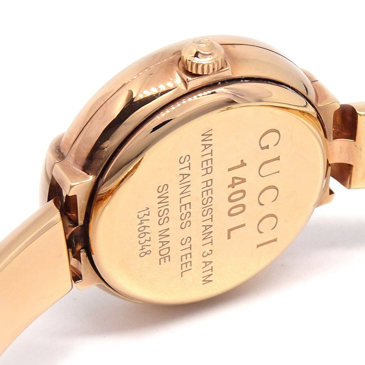 GUCCI 1400L Ladies Quartz Wristwatch 3ATM Stainless steel