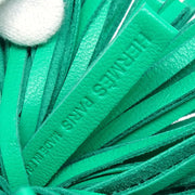 HERMES Carmen Fringe Key Green Small Good