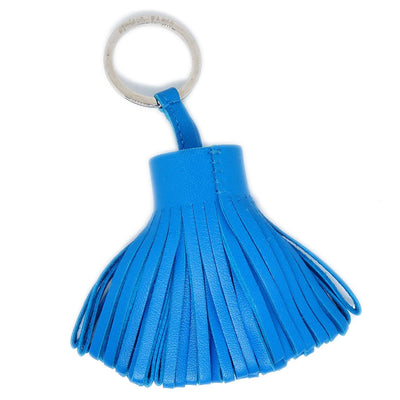HERMES Carmen Fringe Key Blue  Small Good