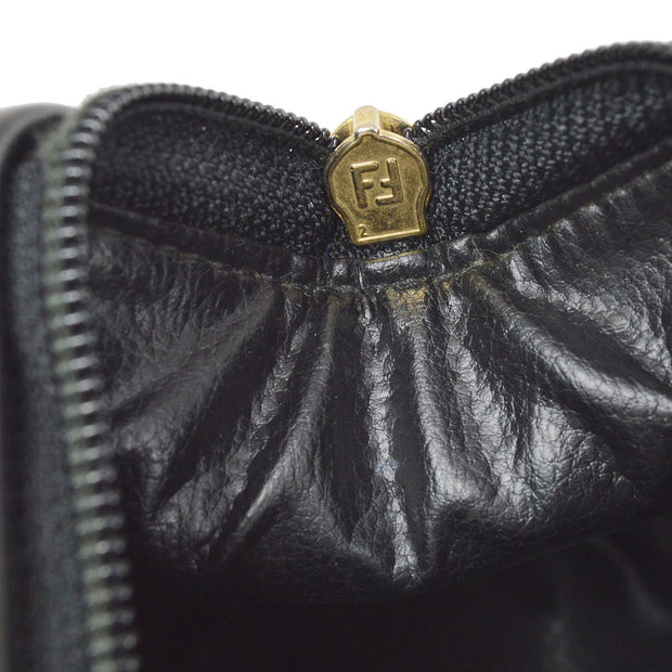 FENDI Pequin 2way Hand Shoulder Bag Brown Black