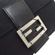 FENDI Mamma Baguette Hand Bag Black