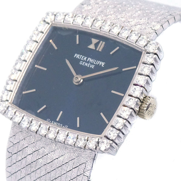 PATEK PHILIPPE 3353/1 Ladies Manual-winding Wristwatch Watch White gold 750