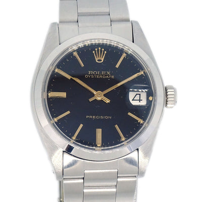ROLEX OYSTERDATE Ref.6466 Unisex Self-winding Wristwatch Watch SS