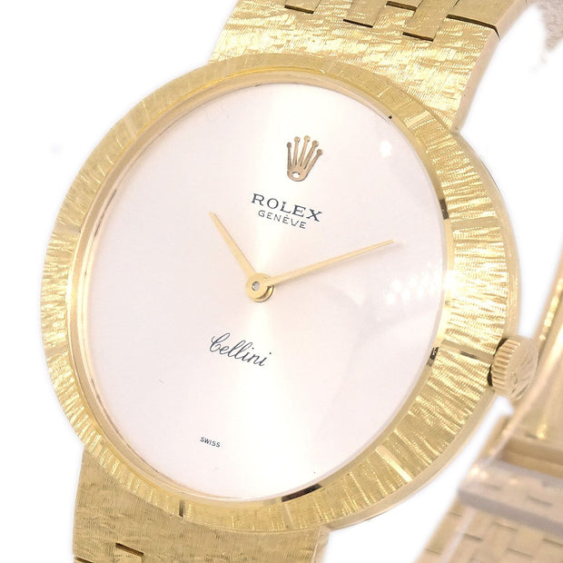 ROLEX GENEVE Cellini Antique Mens Manual-winding Wristwatch Watch YG750
