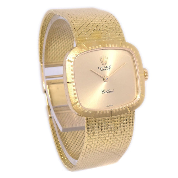 ROLEX GENEVE Cellini 4082/8 Ladies Manual-winding Wristwatch Watch Gold YG750
