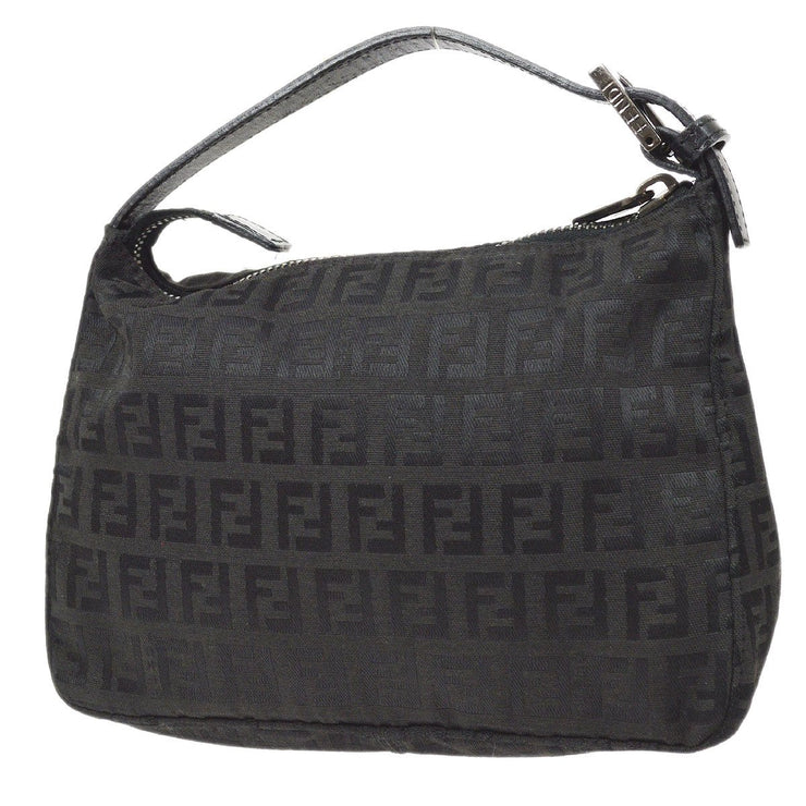FENDI Zucchino Pattern Hand Bag Black