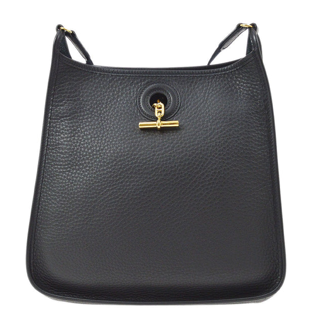HERMES VESPA PM Shoulder Bag Black Taurillon Clemence