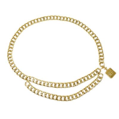 CHANEL Perfume Gold Chain Belt SMALL GOOD