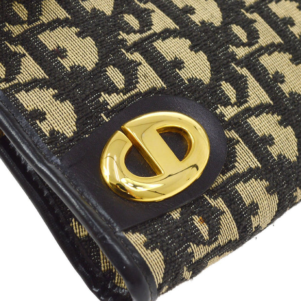 Christian Dior Trotter Pattern Clutch Hand Bag Navy Beige