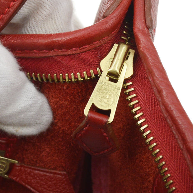HERMES TRIM 31 Shoulder Bag Red Taurillon Clamence