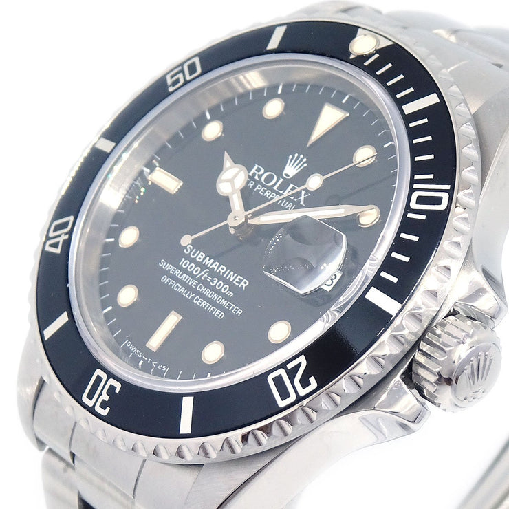 ROLEX Oyster Perpetual Submariner Date Wristwatch Watch Ref.168000