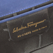 Salvatore Ferragamo Vara Bow 2way Shoulder Bum Belt Bag Navy Suede