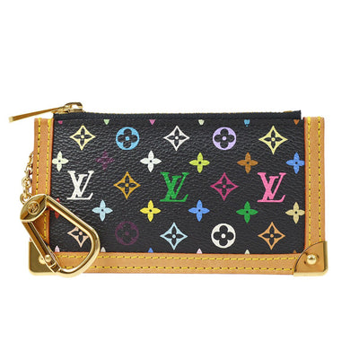 LOUIS VUITTON POCHETTE CLES COIN CASE WALLET MULTICOLOR BLACK M92654