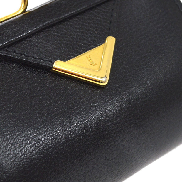 Yves Saint Laurent Coin Case Wallet Black