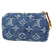 LOUIS VUITTON TROUSSE SPEEDY PM MULTI POUCH INDIGO MONOGRAM DENIM M95082 SMALL GOOD