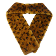 LOUIS VUITTON ECHARPE VIZON STOLE MONOGRAM M71967 MINK FUR BROWN Small Good
