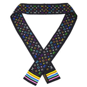 LOUIS VUITTON BANDEAU SCARF MONOGRAM MULTICOLOR SILK BLACK M71992 Small Good